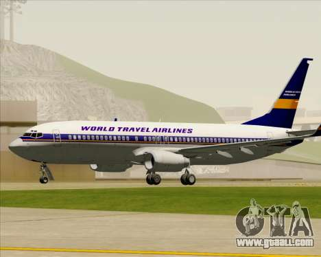 Boeing 737-800 World Travel Airlines (WTA) for GTA San Andreas side view
