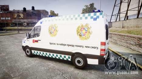 Mercedes-Benz Sprinter ARM Ambulance [ELS] for GTA 4 left view