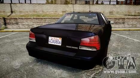 GTA V Vapid Cruiser Police Unmarked [ELS] Slick for GTA 4 back left view