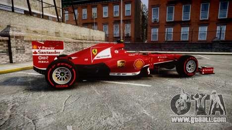 Ferrari F138 v2.0 [RIV] Massa TSSD for GTA 4 left view