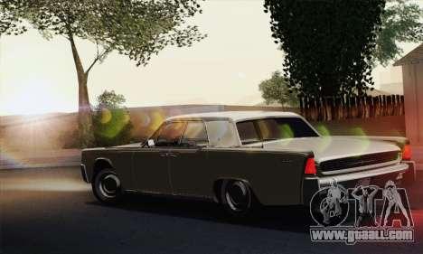 Lincoln Continental Sedan (53А) 1962 (HQLM) for GTA San Andreas left view