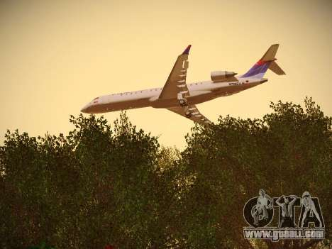 Bombardier CRJ-700 Delta Connection for GTA San Andreas inner view