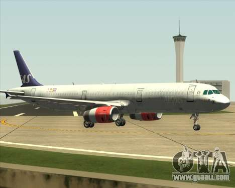 Airbus A321-200 Scandinavian Airlines System for GTA San Andreas