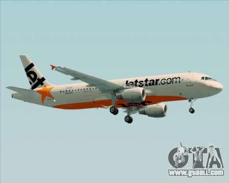 Airbus A320-200 Jetstar Airways for GTA San Andreas inner view