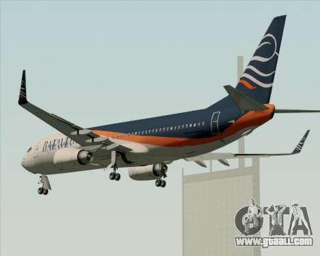 Boeing 737-800 Batavia Air (New Livery) for GTA San Andreas wheels