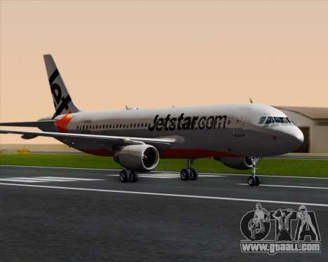 Airbus A320-200 Jetstar Airways for GTA San Andreas left view