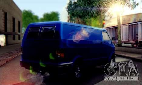 GTA 5 Youga for GTA San Andreas back left view