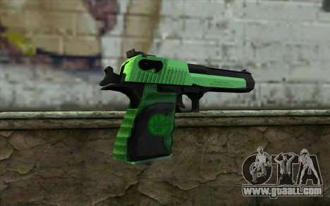 Green Desert Eagle for GTA San Andreas second screenshot