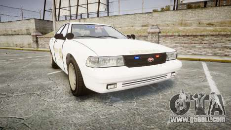 GTA V Vapid Cruiser LSS White [ELS] Slicktop for GTA 4