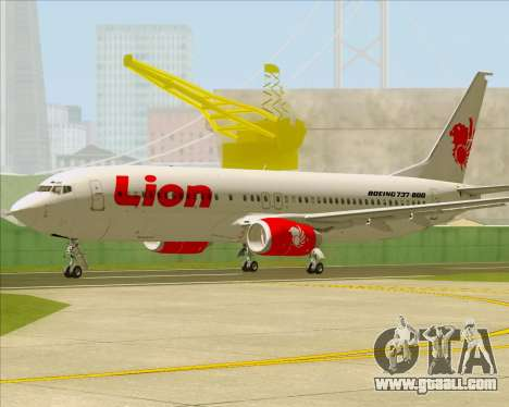 Boeing 737-800 Lion Air for GTA San Andreas back left view