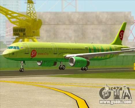Airbus A321-200 S7 - Siberia Airlines for GTA San Andreas left view