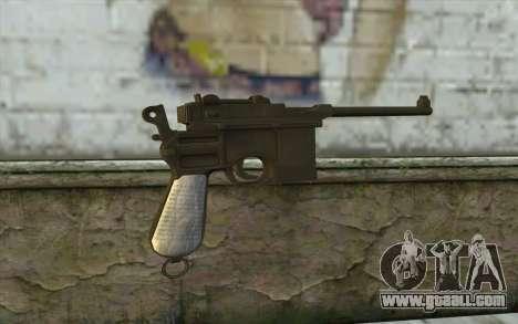 Mauser C96 v1 for GTA San Andreas second screenshot