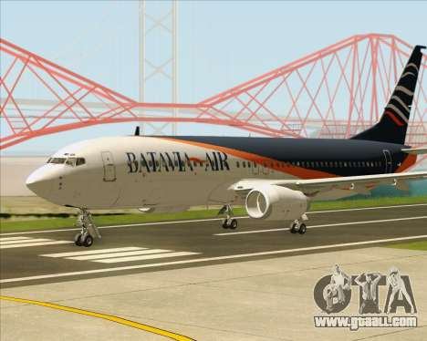 Boeing 737-800 Batavia Air (New Livery) for GTA San Andreas back left view