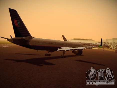 Boeing 757-224 United Airlines for GTA San Andreas right view