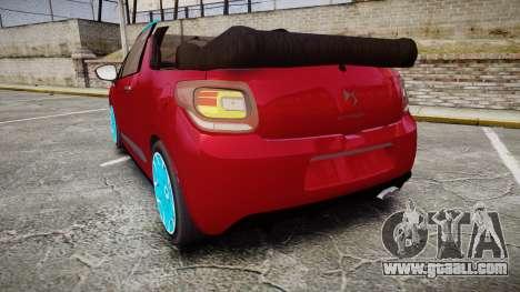 Citroen DS3 Convertible for GTA 4 back left view