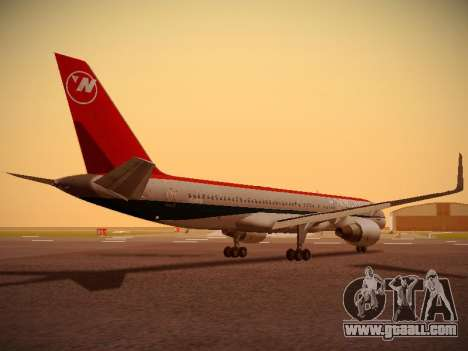 Boeing 757-251 Northwest Airlines for GTA San Andreas right view
