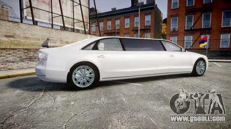 Audi A8 Limousine for GTA 4 left view