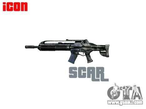 Machine SCAR for GTA 4 third screenshot