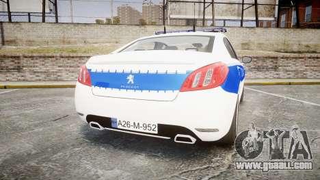 Peugeot 508 Republic of Srpska [ELS] for GTA 4 back left view