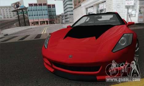 GTA 5 Invetero Coquette for GTA San Andreas back left view