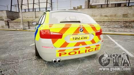 BMW 530d F11 Metropolitan Police [ELS] for GTA 4 back left view