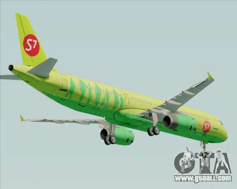 Airbus A321-200 S7 - Siberia Airlines for GTA San Andreas right view
