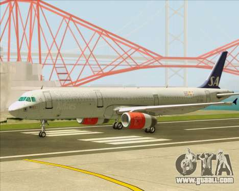 Airbus A321-200 Scandinavian Airlines System for GTA San Andreas inner view