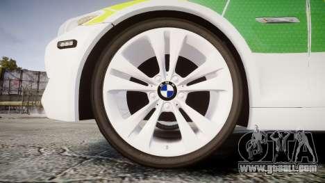 BMW 530d F11 Ambulance [ELS] for GTA 4 back view