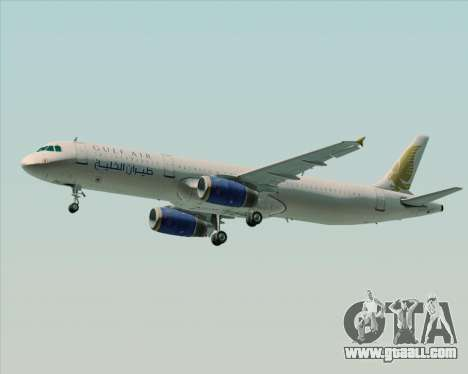 Airbus A321-200 Gulf Air for GTA San Andreas back view