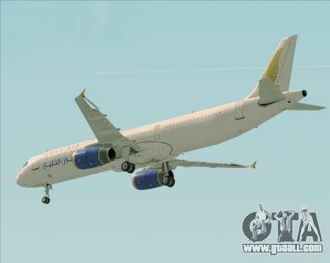 Airbus A321-200 Gulf Air for GTA San Andreas wheels