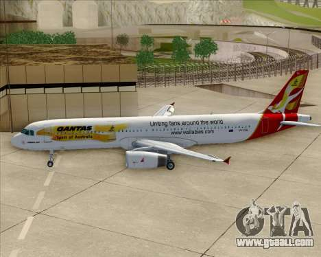 Airbus A321-200 Qantas (Wallabies Livery) for GTA San Andreas bottom view