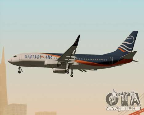 Boeing 737-800 Batavia Air (New Livery) for GTA San Andreas side view