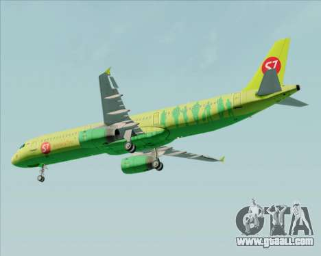 Airbus A321-200 S7 - Siberia Airlines for GTA San Andreas side view