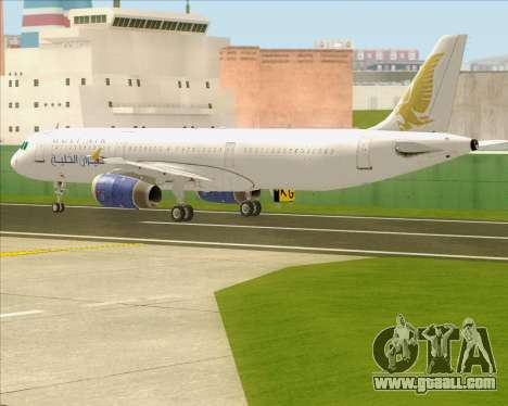 Airbus A321-200 Gulf Air for GTA San Andreas side view