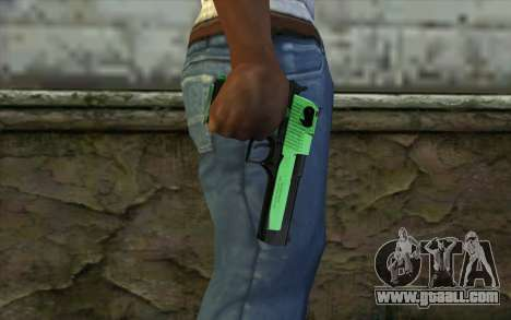 Green Desert Eagle for GTA San Andreas third screenshot
