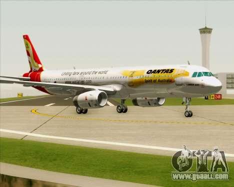 Airbus A321-200 Qantas (Wallabies Livery) for GTA San Andreas left view