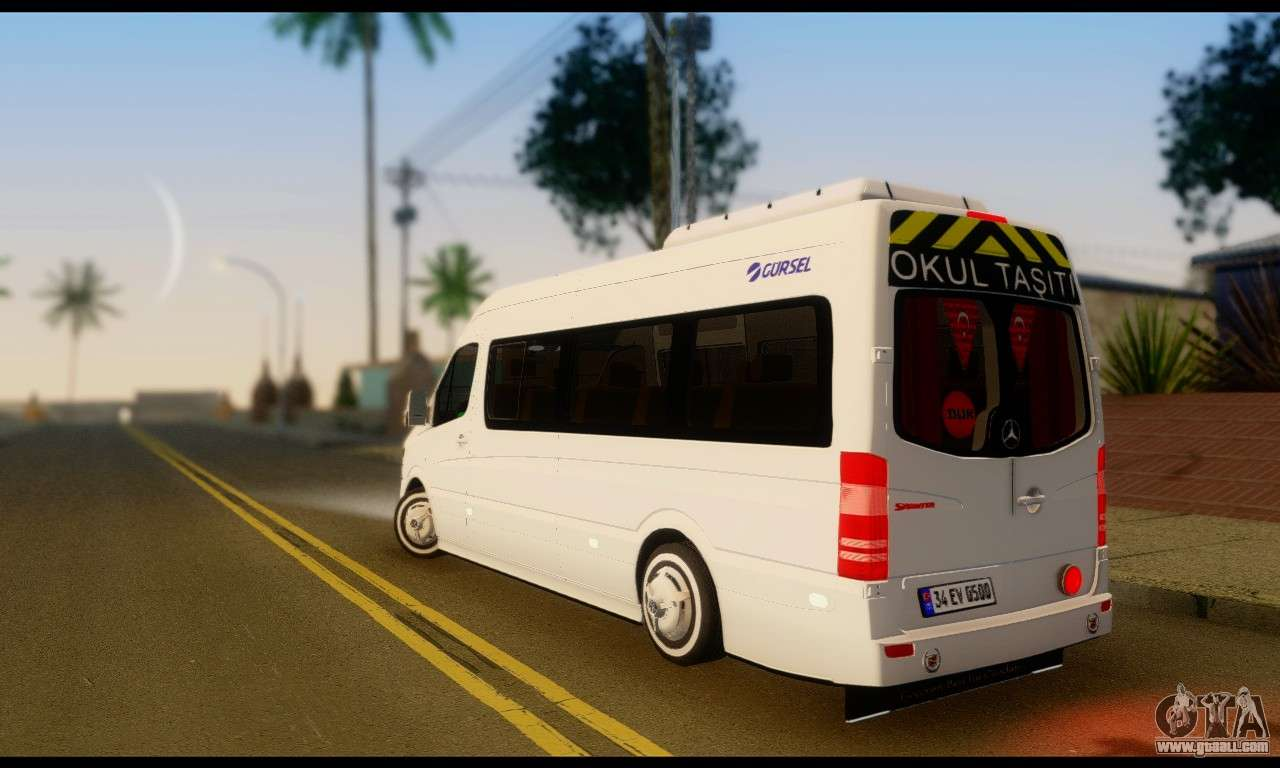 Mercedes Benz Sprinter School Bus For Gta San Andreas