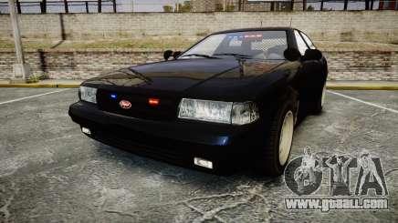 GTA V Vapid Cruiser Police Unmarked [ELS] Slick for GTA 4