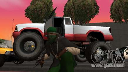New textures wheels Monster for GTA San Andreas