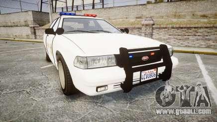 GTA V Vapid Cruiser LSS White [ELS] for GTA 4