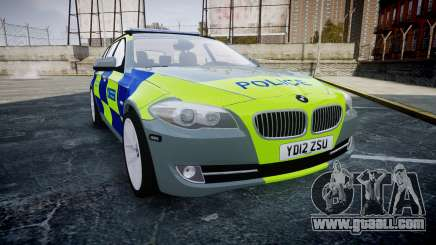 BMW 530d F11 Metropolitan Police [ELS] SEG for GTA 4