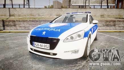 Peugeot 508 Republic of Srpska [ELS] for GTA 4