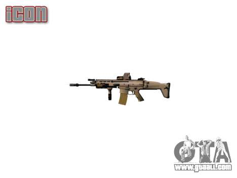 Machine FN SCAR-L Mk 16 icon2 for GTA 4 third screenshot
