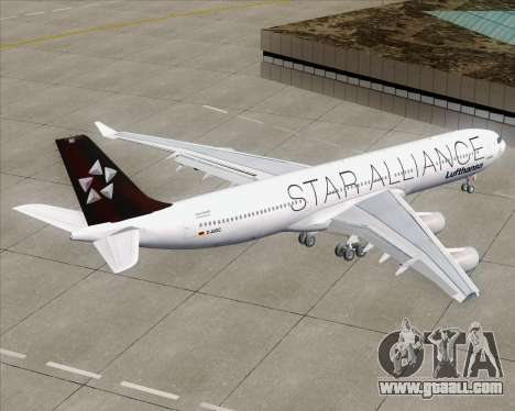 Airbus A340-300 Lufthansa (Star Alliance Livery) for GTA San Andreas