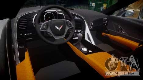 Chevrolet Corvette C7 Stingray 2014 v2.0 TireMi3 for GTA 4 inner view