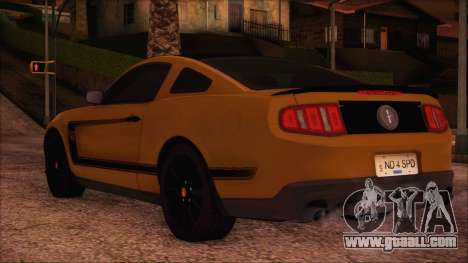 Ford Mustang Boss 302 2012 for GTA San Andreas left view