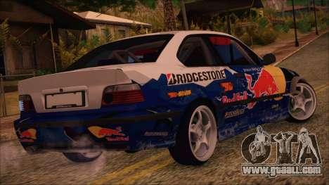 BMW E36 Coupe Bridgestone Red Bull for GTA San Andreas left view