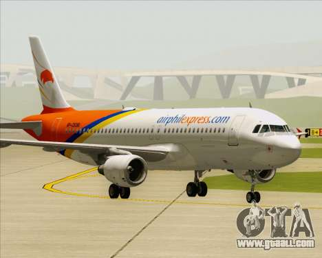 Airbus A320-200 Airphil Express for GTA San Andreas back left view