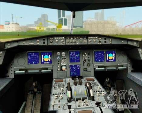 Airbus A340-300 Lufthansa (Star Alliance Livery) for GTA San Andreas interior