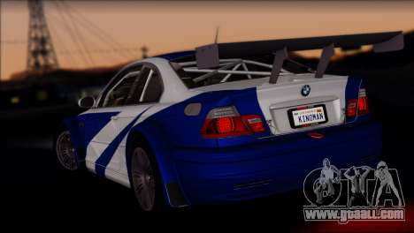 BMW M3 E46 GTR for GTA San Andreas